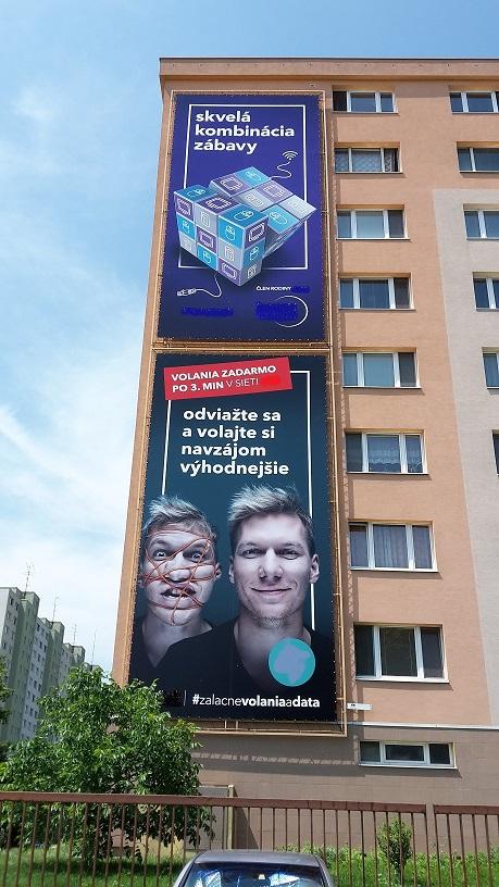 Ponúkame reklamnú plochu 109m²  na prenájom v Petržalke